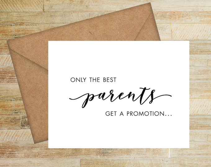 We're Expecting Greeting Card | Card for Grandparents to Be | Baby Announcement Card | Modern Birth Announcement | PRINTED