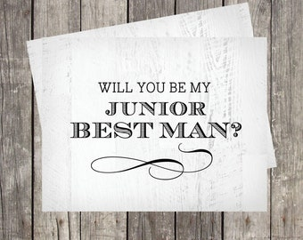 Will You Be My Junior Best Man Card | Rustic Wedding | PRINTED