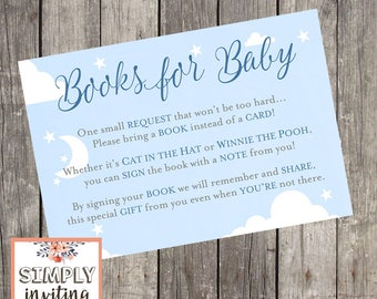 Books for Baby Invitation Insert Card   Bring a Book Instead of a Card   Book Request Card   Baby Shower Insert Card   PRINTED