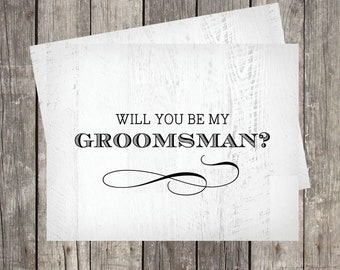 groomsman proposal | will you be my groomsman card | rustic | bridal party card | best man | ring bearer