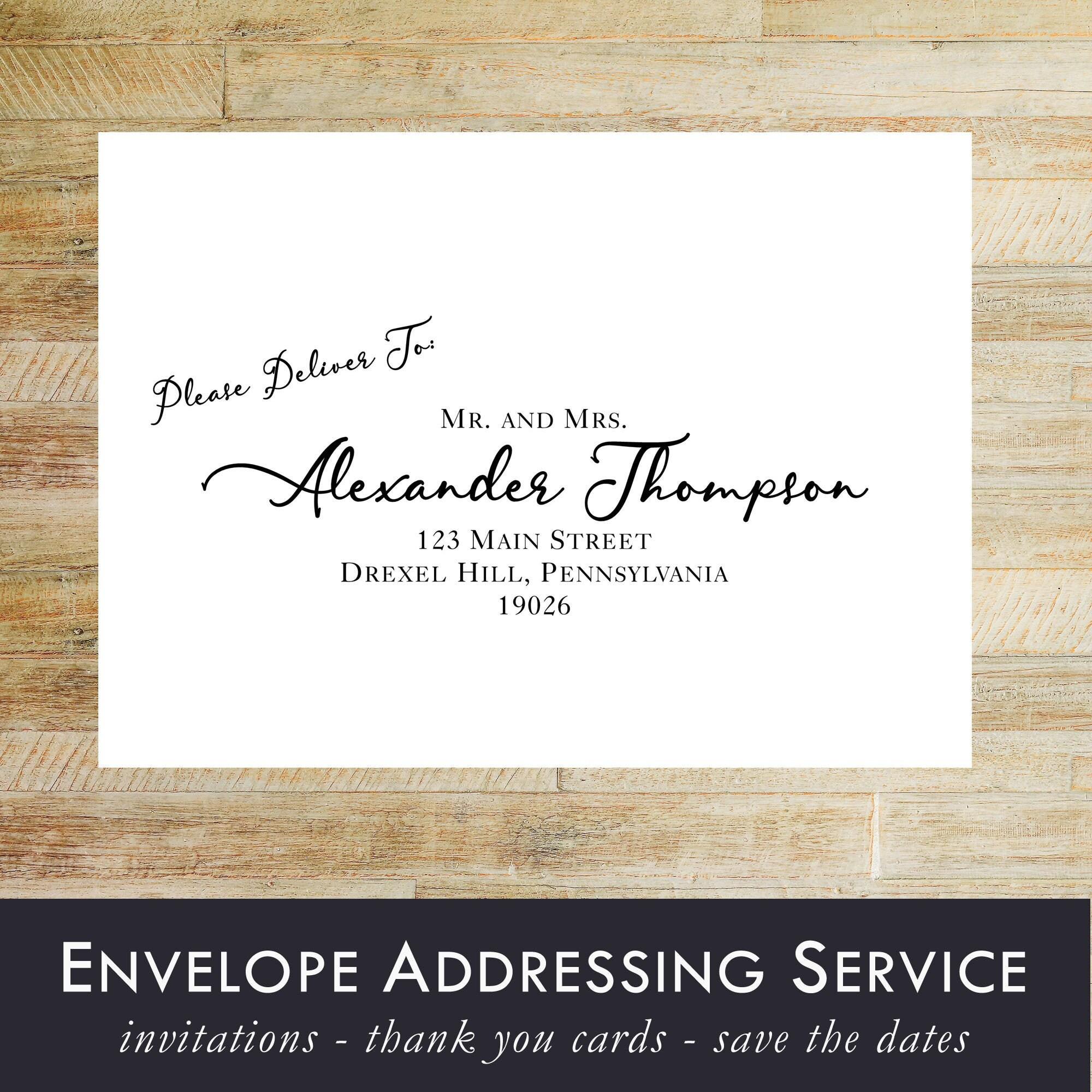 Envelope Addressing Service Wedding Invitations Thank You Card