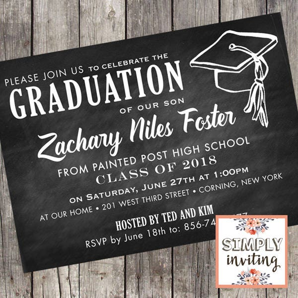 High School Graduation Announcements 2020.Class Of 2020 Graduation Party Invitations Set Of 10