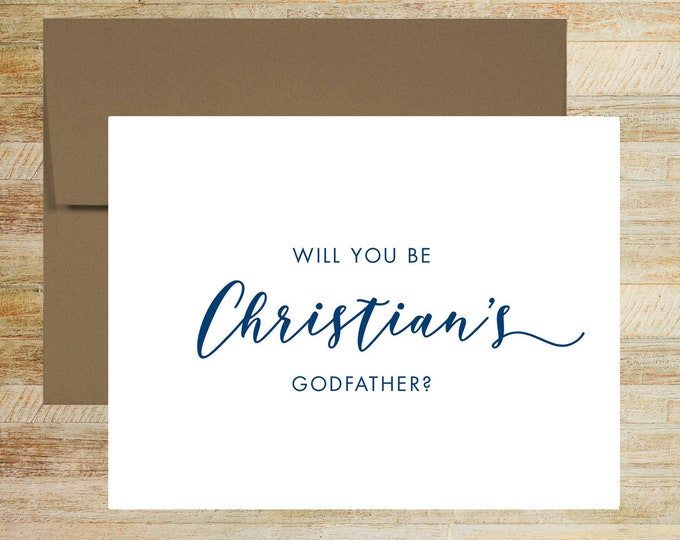 Will you be my Godfather Proposal Card | Godparent Request Card | Baptism Godparent Card | Card for Godfather | PRINTED