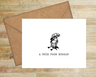 Doodle Animals Stationery Card Set | Choose Your Design | Fun Personalized Notes | Gifts for Children | Custom Note Card Set | PRINTED