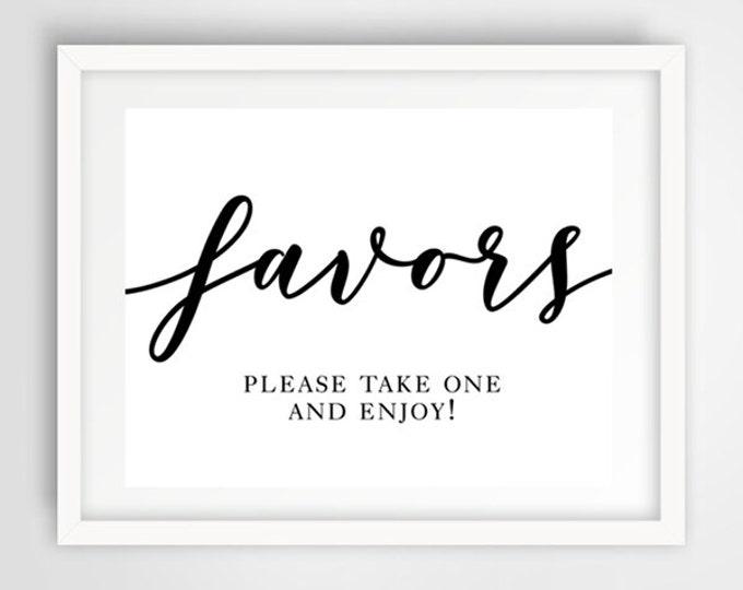 Wedding Favors Sign | 8 x 10 | Printable Wedding Reception Sign | INSTANT DOWNLOAD