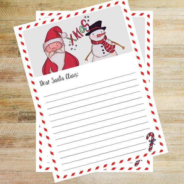 photograph regarding Printable Letters From Santa named Expensive Santa Claus - Printable Letters 8.5 x 11 Holiday vacation