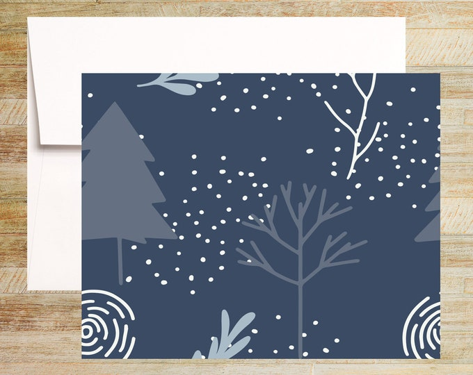 Holiday Tree Note Cards | Set of 4 | Unique Stationery Gifts | PRINTED