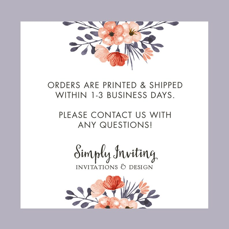 Floral Watercolor Note Cards Set of 5 Unique Stationery Gifts Patterned Flowers Note Cards PRINTED
