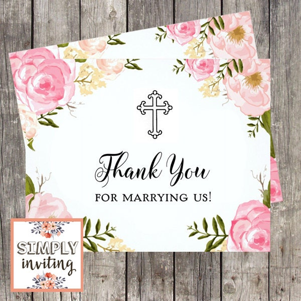Wedding Officiant Thank You Card Thank You For Marrying