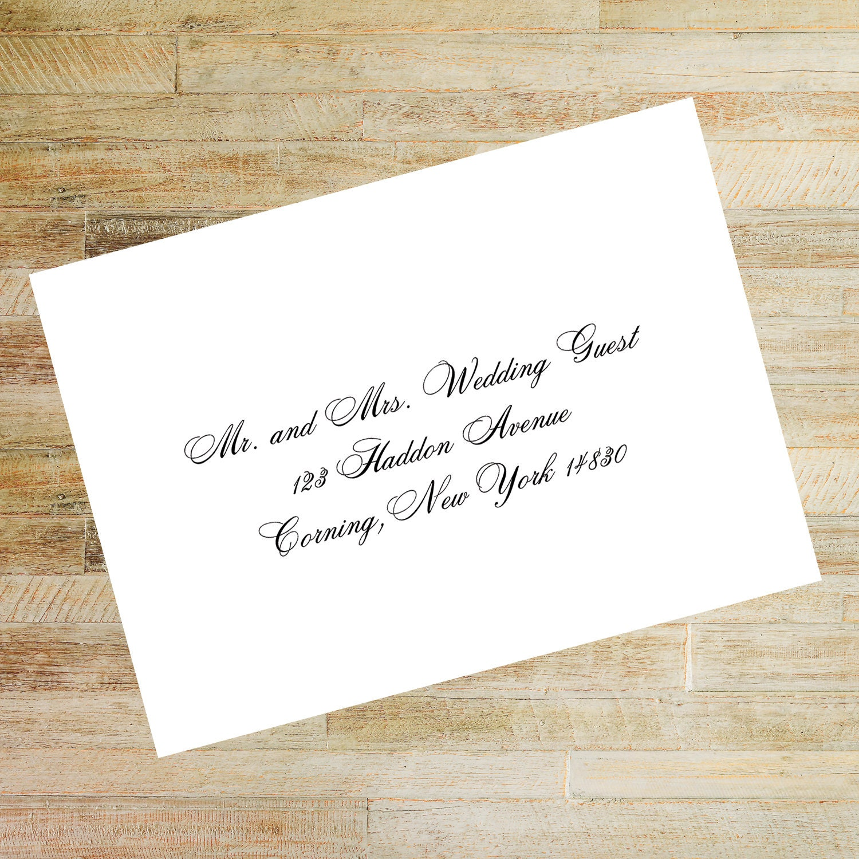Printed or Digital Custom Envelope Address Template Wedding Envelopes Printable Digital Calligraphy Addresses E5 Envelope Addressing