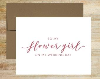 Flower Girl Wedding Card | On My Wedding Day Card For Flower Girl | PRINTED