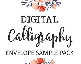 Digital Calligraphy Envelope Sample Pack | Envelope Addressing Service | Invitation Envelope Printing | Thank You Card Printed Envelopes