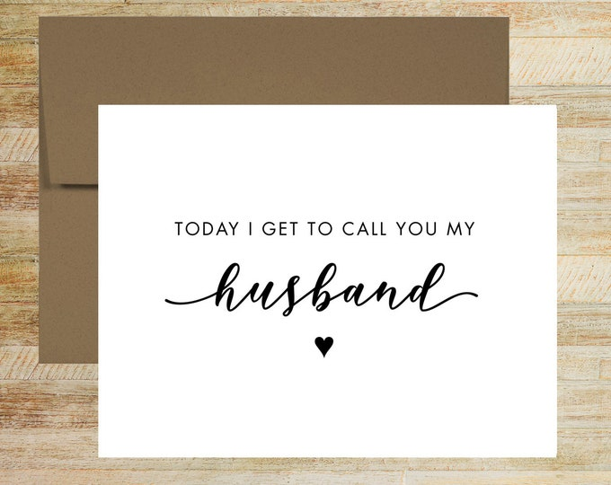 To My Husband Wedding Day Card | Card for Groom | PRINTED