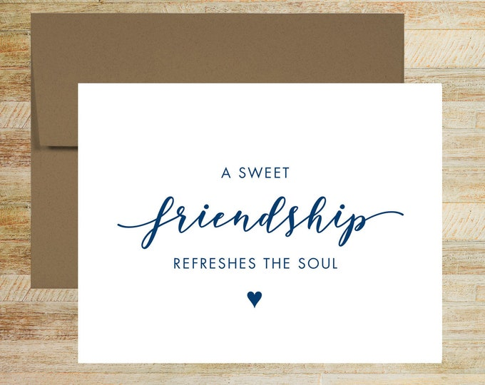 A Sweet Friendship Wedding Day Card | Card from the Bride or Groom | Card for Best Friend | PRINTED