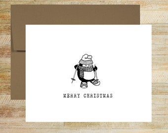 Doodle Animals Holiday Greeting Cards | Fun Personalized Christmas Cards | Gifts for Children | Set of 5 | PRINTED