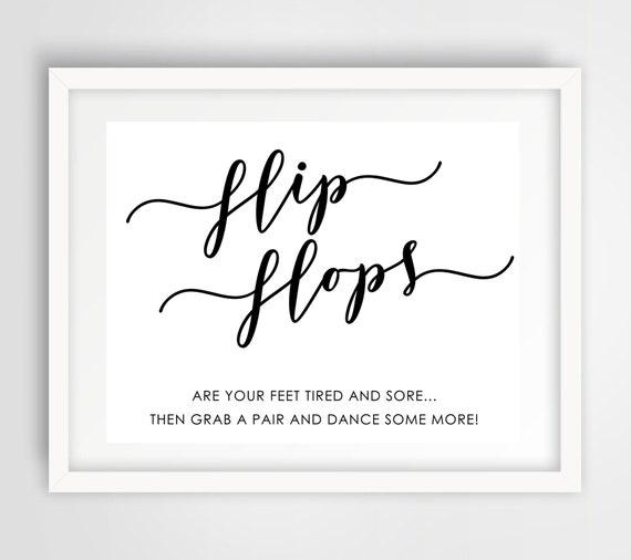 6bcd60939832a Flip Flops Dance Floor Sign 8 x 10 Wedding Reception Sign