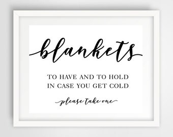 Outdoor Wedding Take a Blanket Sign | 8 x 10 | Wedding Reception Sign | INSTANT DOWNLOAD