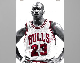 71509b8c641160 Michael Jordan - Art print Basketball poster Sports wall art Man cave Dorm  decor Gift for him Modern art