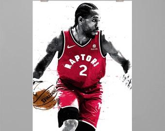 b5e43dc93e2c Kawhi Leonard - Art print Basketball poster Sports wall art Man cave Dorm  decor Gift for him Modern art