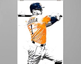 830d7b92d Carlos Correa-Houston Astros art print Baseball poster Sport wall art Man  cave Dorm decor Gift for him Modern art print  0111