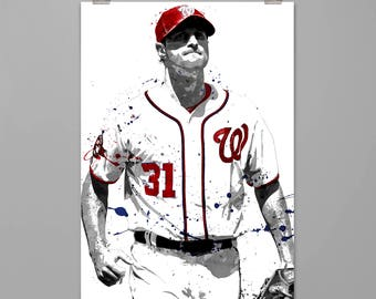 9474c6f11b0 Max Scherzer-Washington Nationals art print Baseball poster Sport wall art  Man cave Dorm decor Gift for him Modern art print  0145