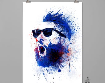 Julian Edelman Wall art Man cave wall decor Dorm decor Kid room Modern art print #0002