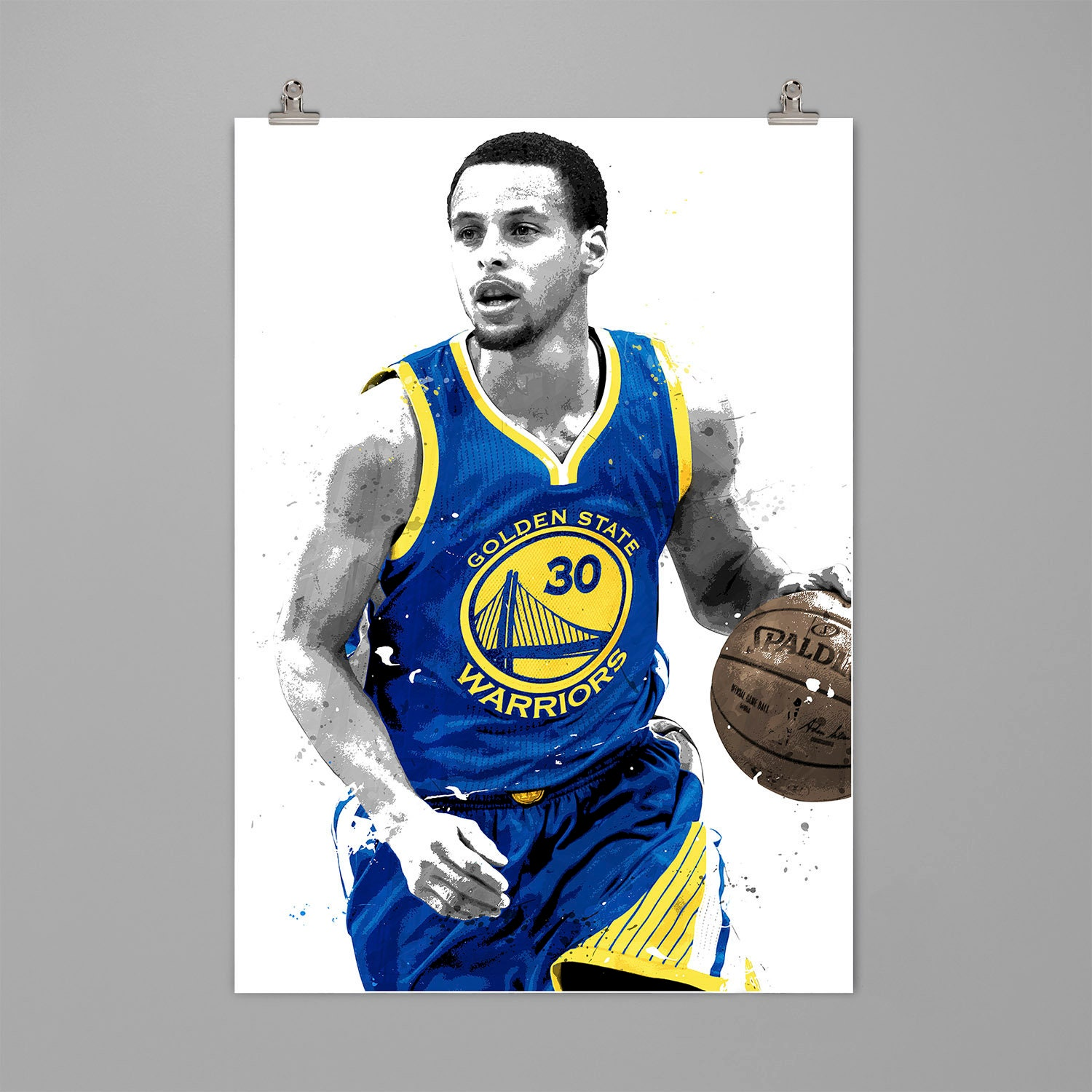 A3 A2 A1 Sizes Stephen Curry Golden State NBA Autographed Poster Print
