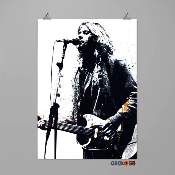 Kurt Cobain Nirvana poster Musician art print Music wall art | Etsy