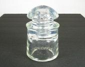 Light OPALESCENT glass insulator, HEMINGRAY E-14B glass insulator, old insulator, cd 128 phone line insulator, experimental insulator