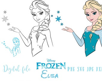 Elsa Silhouette Svg Etsy