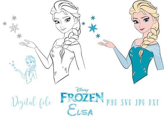 Elsa Frozen Svg File Vector Frozen Clipart Instant Etsy