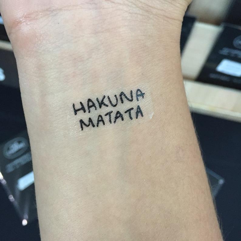 e81556ec2 HAKUNA MATATA Tattoo | Etsy