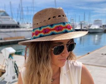 FEDORA HAT   Beach hat  Boho hat   fedora  Summer hat   Sun hat   Womens hat    Straw hat   hat band   Straw fedora  Panama hat aedd21af6afc