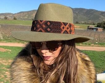 eb463a576bd COWBOY HAT  boho   hat   cowgirl hat   wool felt hat  womens hat   western  hat   bohemian hat   fedora  hat band  sun hat   panama hat