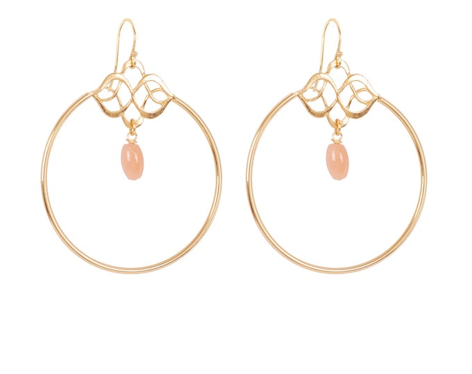 Celestial dangling gold earrings - Intuitu Paris