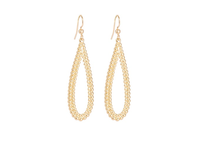 Golden drop earrings - Intuitu Paris