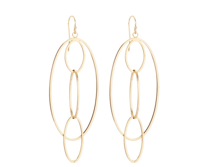 ELETTRA pendant earrings : ellipses and rings