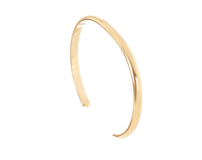 Sun bangle : golden bangle with medals at the ends - Intuitu Paris