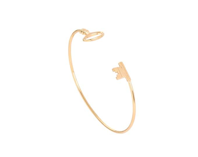 Fine and golden key bracelet - Intuitu Paris