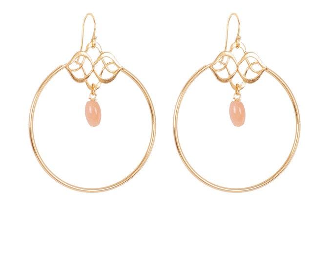 Celestial dying gold earrings