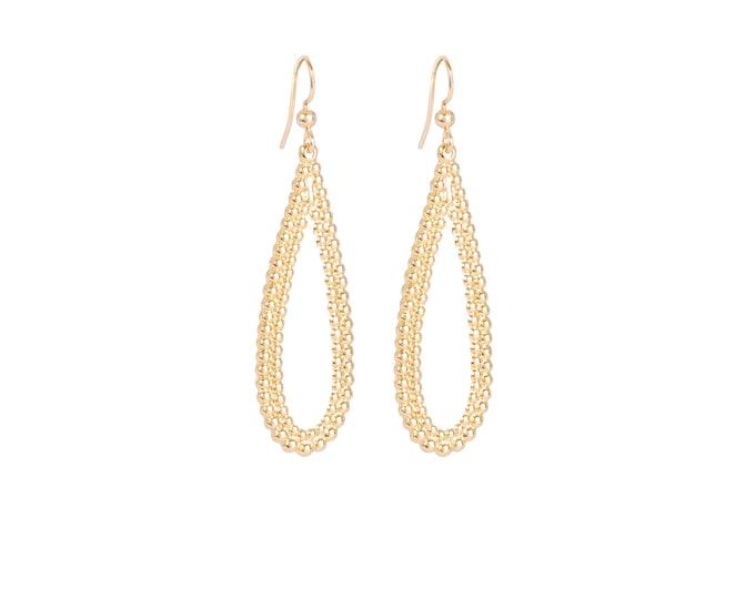 Golden drop earrings - Intuitu Paris