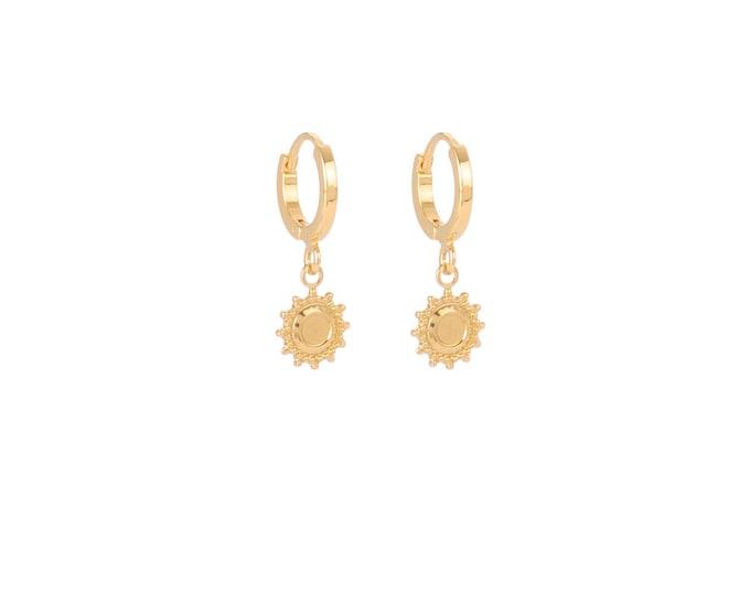 Mini golden flower hoops - Intuitu Paris