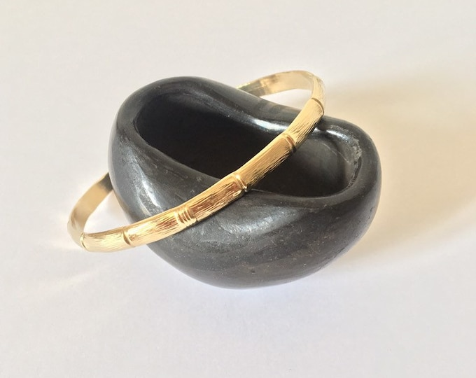 Golden or silver bamboo jonc - Jewelry Intuitu Paris