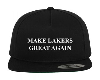 753384aea5738b Make Lakers Great Again - BLACK Snapback Hat Adjustable Cap - Choose Vinyl  Design Color #Basketball NBA Winning Championships Dynasty