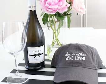 DOGMOTHER WINE LOVER  |  Dog Mom, Wine Lover, Dog Mother Wine Lover Dog Mom Hat