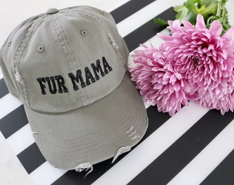 DISTRESSED FUR MAMA  |  Fur Mama, Dog Mom, Dog Mom Gift,