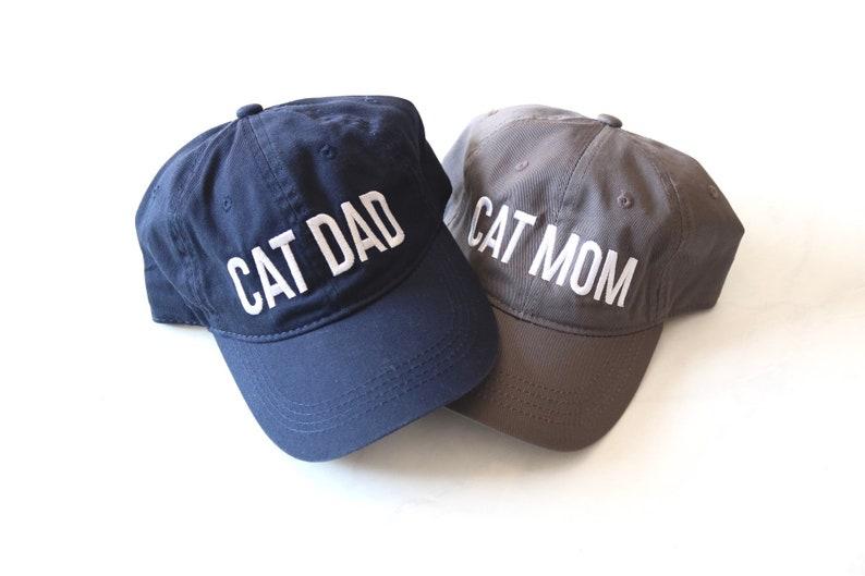 Cat People CAT MOMDAD HATS Cat Dad Cat Mom Cat Lover Gifts Cat Lady