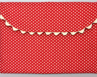 Handmade Padded Cotton Fabric Gadget ~ Tablet ~ E-Reader ~ Passport ~ Papers Case/Wallet