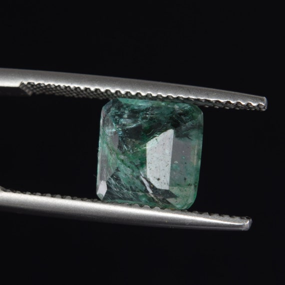 Natural Colombian Green Emerald 3.00 Carat. Square Cut Green Emerald Loose Gemstone May Birthstone Top Quality Ring Size Emerald DK-247