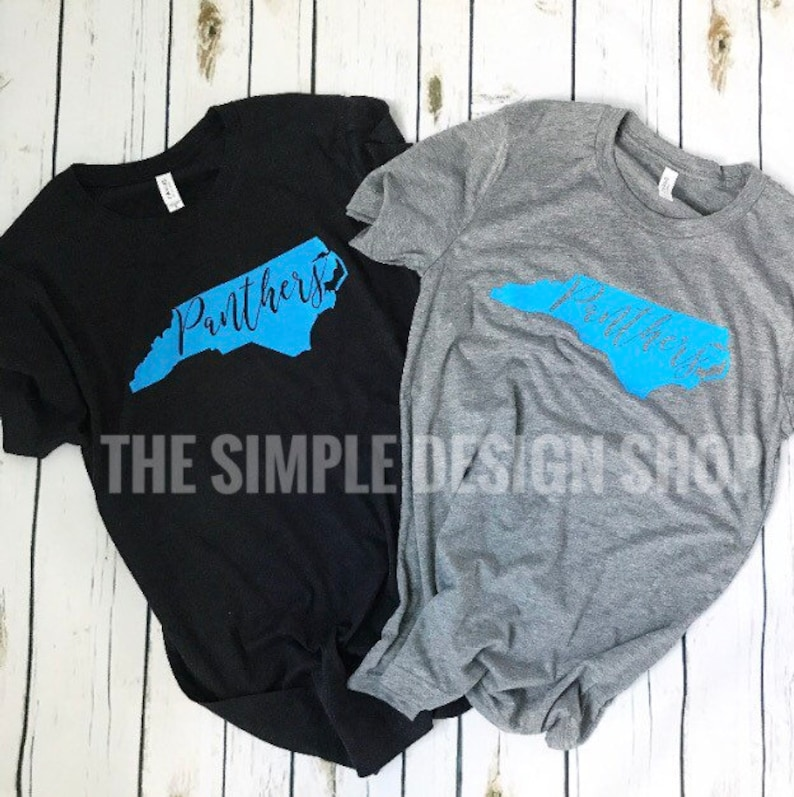 North Carolina Panthers tshirt. North Carolina state. Panther  d550c8b44